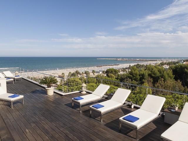 Panorama 360° Esterno Solarium Hotel Cristallo Giulianova
